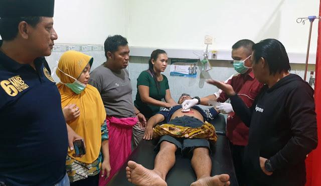 Korban ketika mendapatkan perawatan intensif