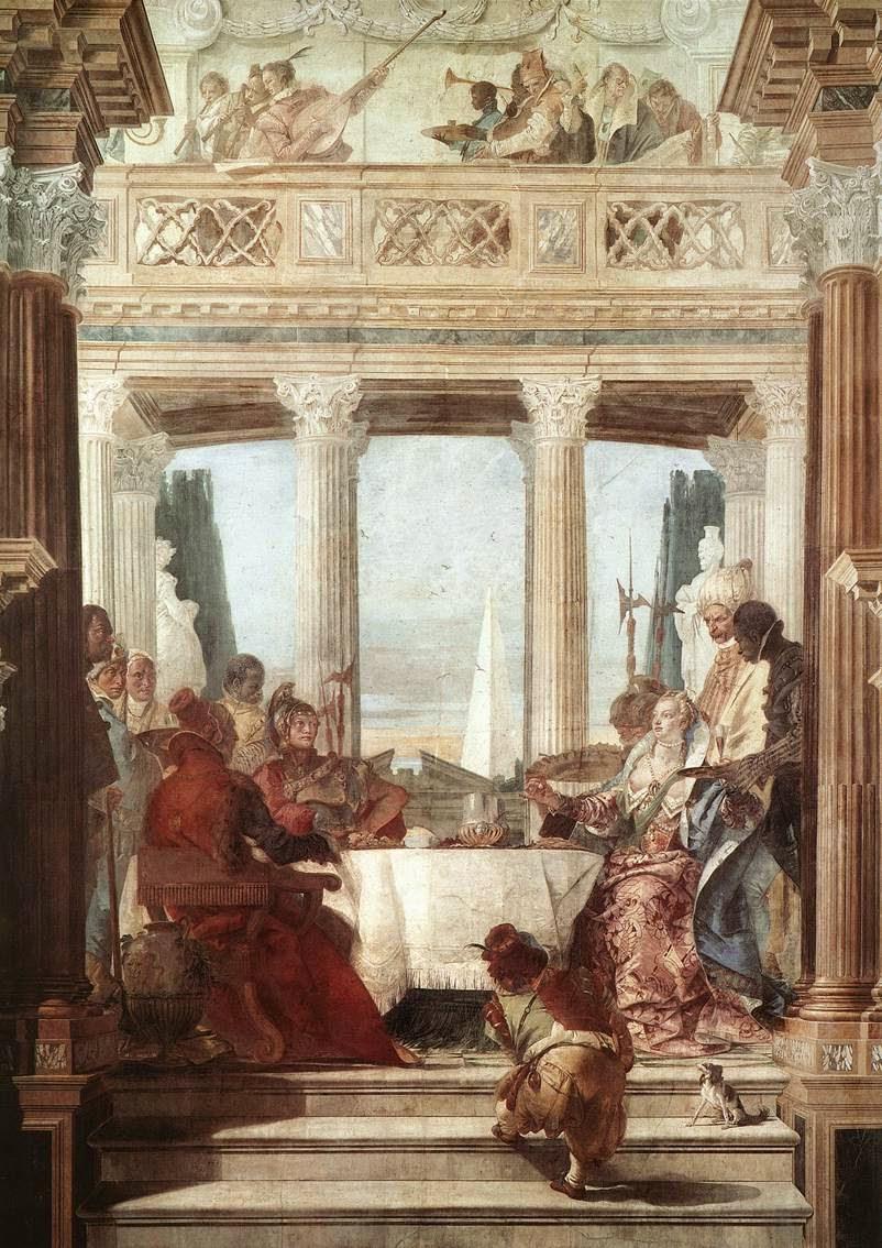 Tiepolo's fresco of The Banquet of Cleopatra, Sala di Ballo, Palazzo Labia, Venice