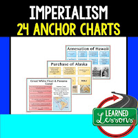 Imperialism Anchor Charts, American History Anchor Charts, American History Classroom Decor, American History Bulletin Boards, ESL Activities, ELL Activities, ESS Activities