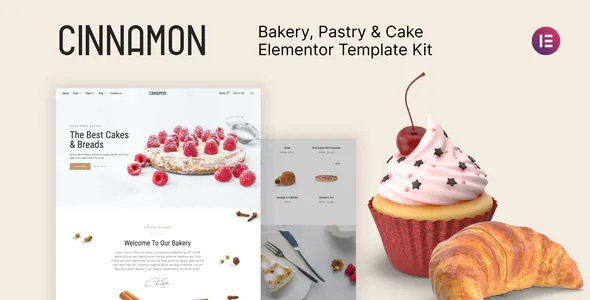 Best Bakery and Pastry Shop Elementor Template Kit