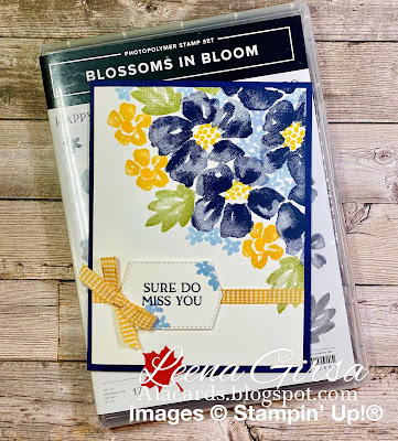 easy card using blossoms in bloom stamp set