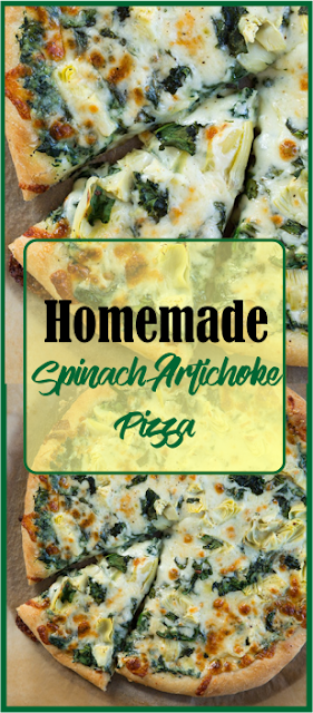 Homemade Spinach Artichoke Pizza