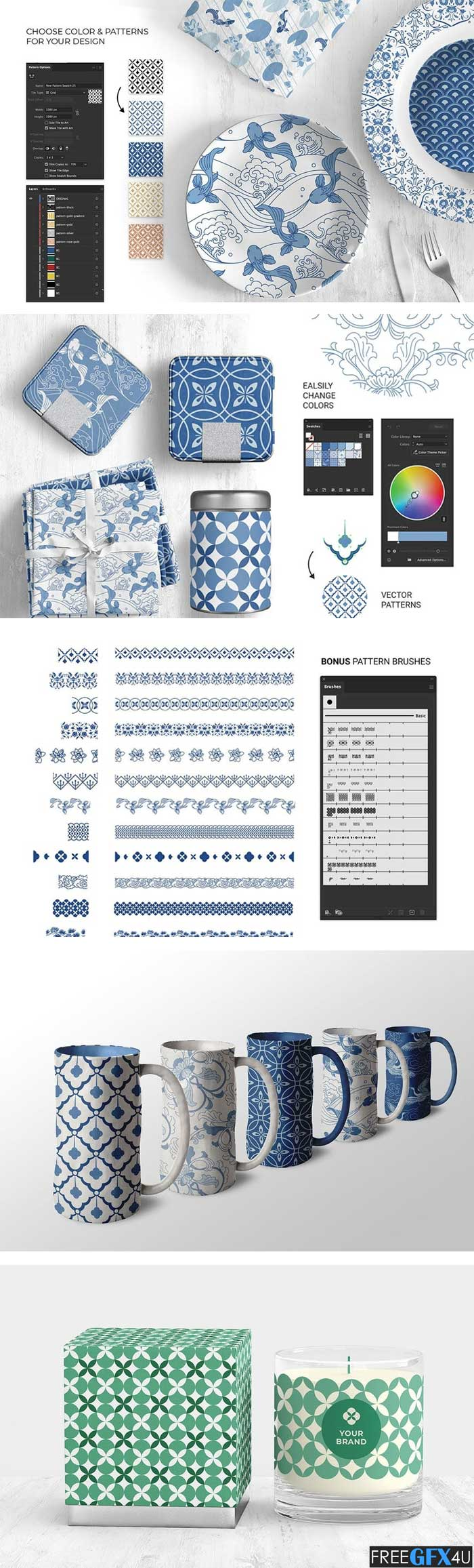 Chinese Ceramic Patterns Collection