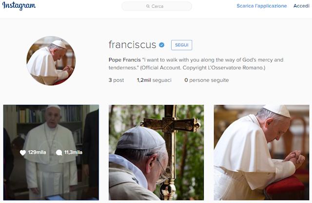 I primi Post di Papa Francesco su Instagram | HTNovo