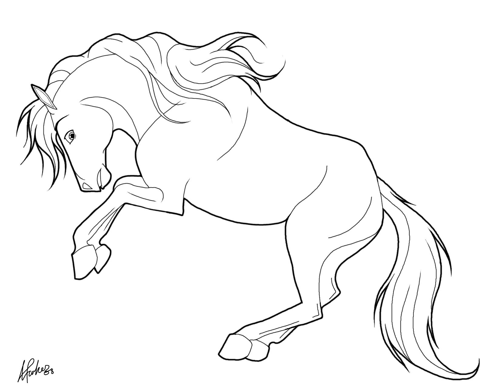 Tranh tô màu con ngựa đang nằm