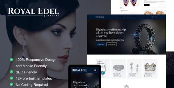 Best Luxury Jewelry Elementor Template Kit