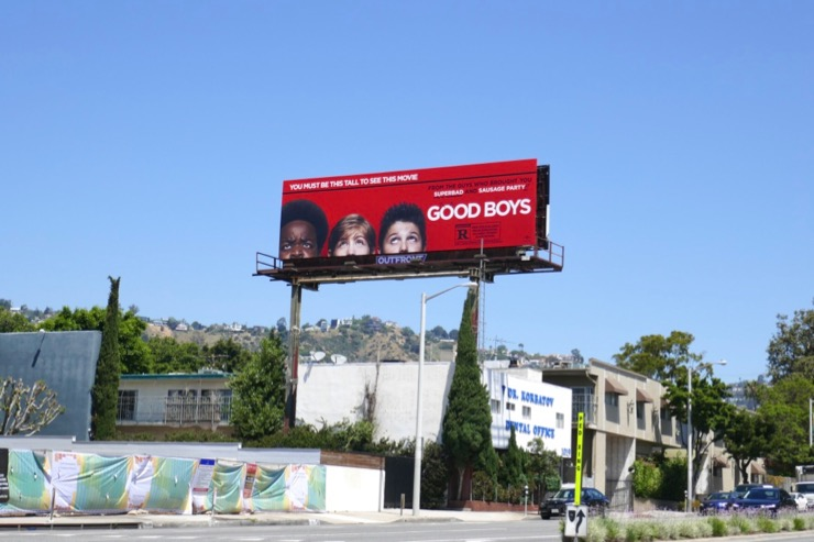 Good Boys film billboard