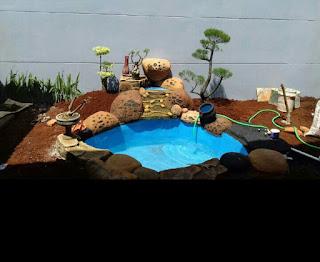 jasa pembuatan kolam hias di halaman rumah harga murah