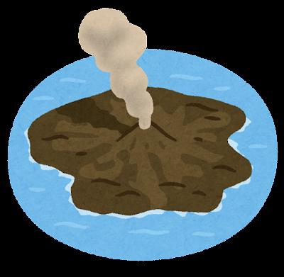 西之島新島のイラスト