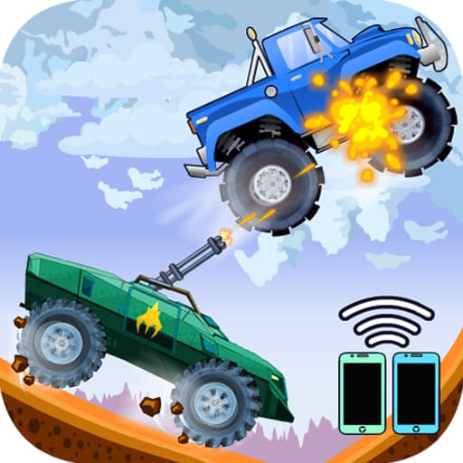 Two players game - Crazy racing via wifi free