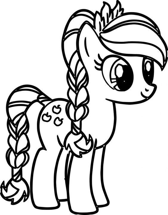 Tranh cho bé tô màu pony 0