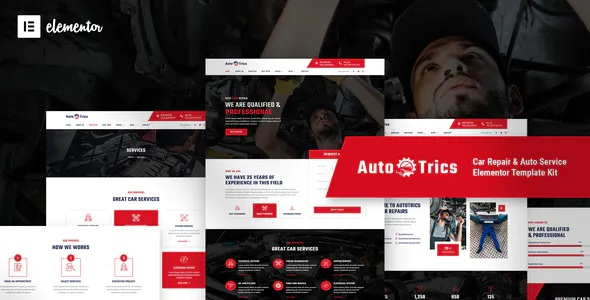 Best Car Repair and Auto Service Elementor Template Kit