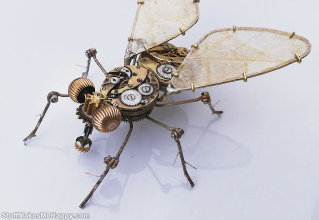 Artist Peter Szucsy Turns Pocket Watches into Spiders