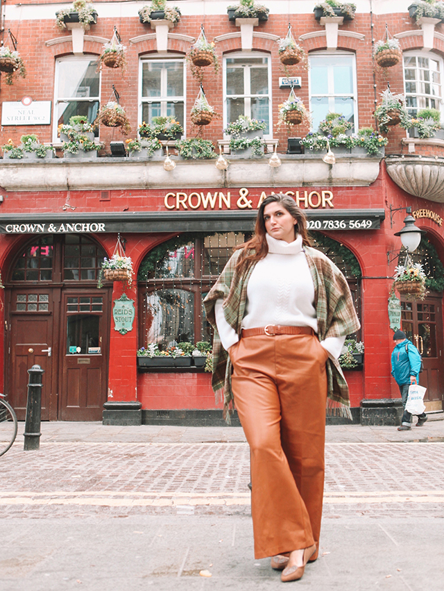 Wide Leg Leather Trousers How to style