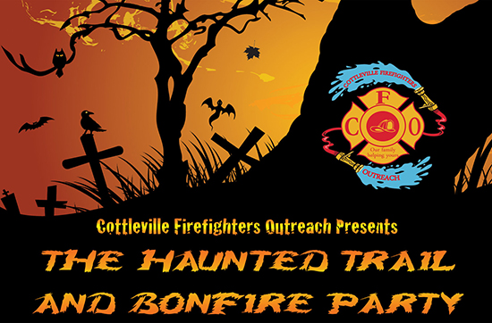 Cottleville Firefighter's Haunted Trail and Bonfire Party