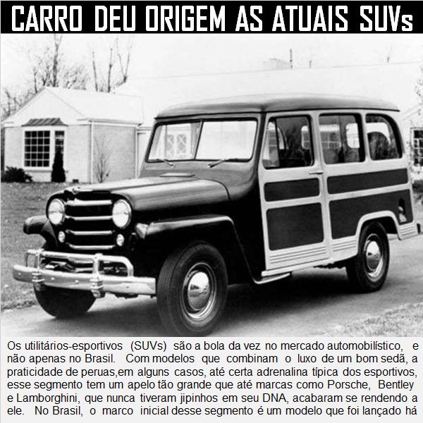 O carro que deu origem aos utilitários esportivos SUVs