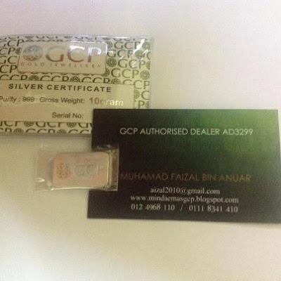 Peluang Menangi Silver Bar GCP 10g 999 (RM50.65)