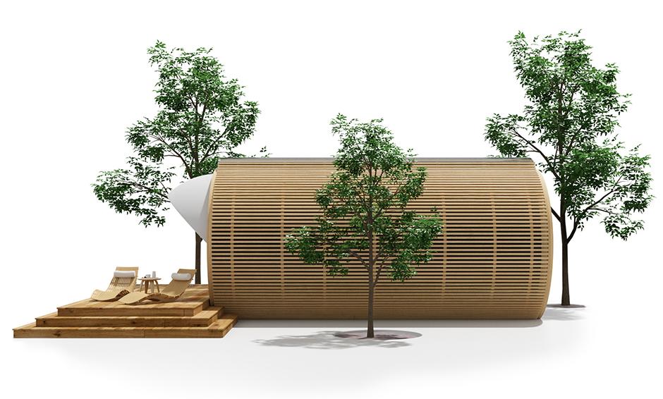 creative garden pod home office. Brilliant Pod DROP Pod Cylindrical Garden Office For Creative Garden Home Office O