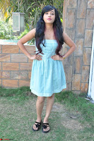 Sahana New cute Telugu Actress in Sky Blue Small Sleeveless Dress ~  Exclusive Galleries 048.jpg