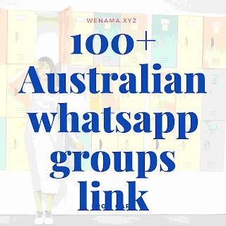 Australia whatsapp group links