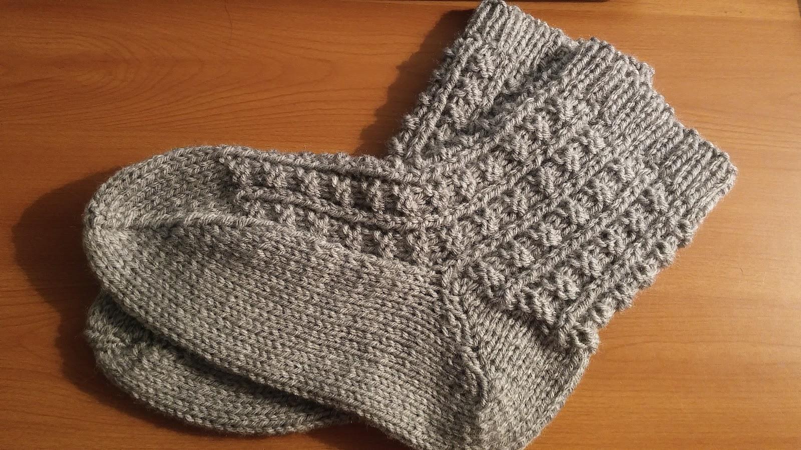 Curso de tejido a mano - Como hacer talon de calcetines de lana ...