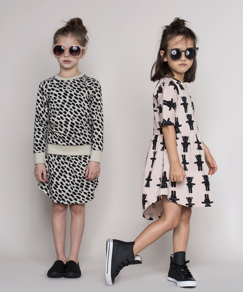 Huxbaby - monochrome kids fashion SS16/17 - dresses