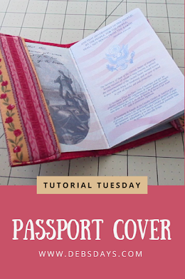 Easy Homemade Fabric Passport Cover Holder Sewing Project
