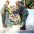 Rangkaian Hari Bhakti TNI AU Ke - 73 Jajaran Wingdik di Lanud Suryadharma Ziarah Ke TMP Cidongkol Subang