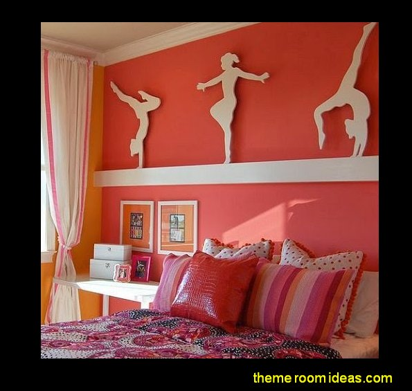 sports girls gymnastics theme bedroom decorating ideas girls sports gymnastics