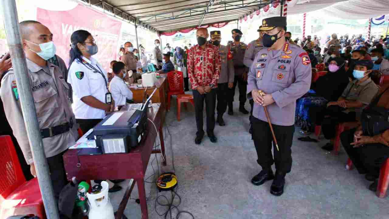 Dukung Pelaksanaan PON, Kapolri Minta Vaksinasi di Papua Ditingkatkan