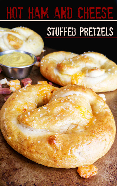 ham and cheese stuffed pretzels