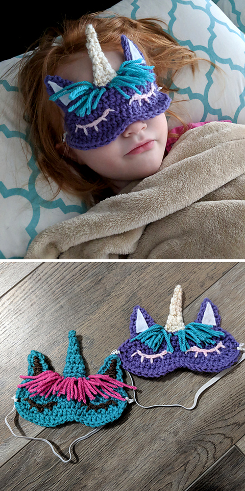 Child's Unicorn Sleep Mask - Free Pattern