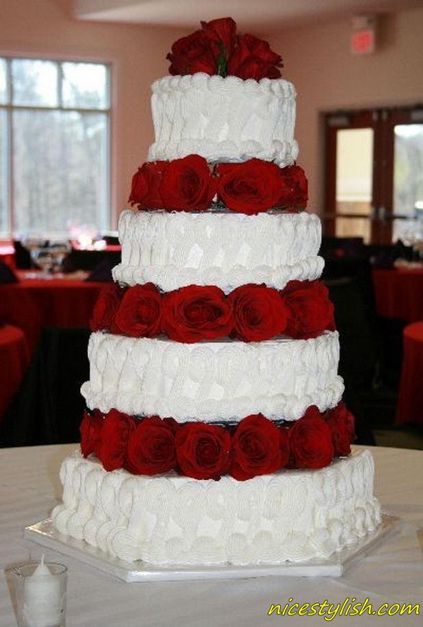 2 tier red and white wedding cakes cake place and white tier wedding cake 10134