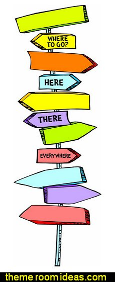 Dr. Seuss Blank Directional Signs Mini Bulletin Board Set  Dr Seuss bedroom ideas - Dr.Suess bedroom decor - Dr Seuss Bedding - dr. seuss nursery  - decorating ideas  cat in the hat theme bedrooms -  Dr Seuss wall decal stickers - DR SEUSS wall mural decal - Dr. Suess playroom ideas - Dr. Seuss Plush Toys