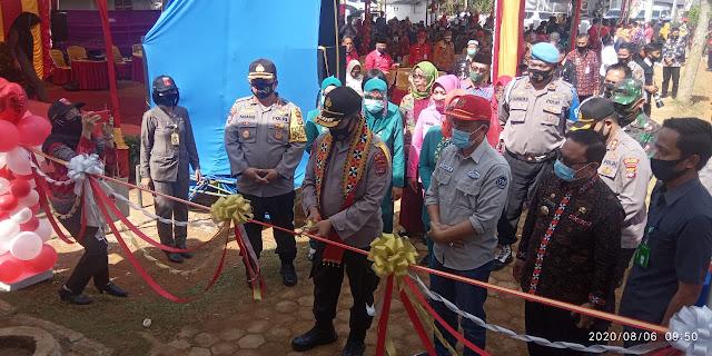 Wakapolda Lampung Bersama Forkopimda Resmikan Kampung Tangguh Nusantara Pekon Air Hitam Lampung Barat