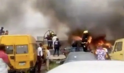 Fire Guts LASTMA Office, Destroys 11 Impounded Vehicles