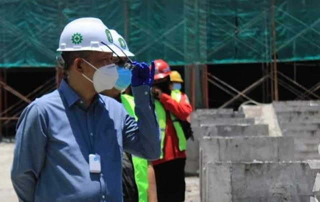 Gubernur Kembali Tinjau Proses Pembangunan Rsud dr. Soedarso