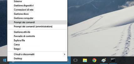 Come accedere al prompt comandi in Windows 10
