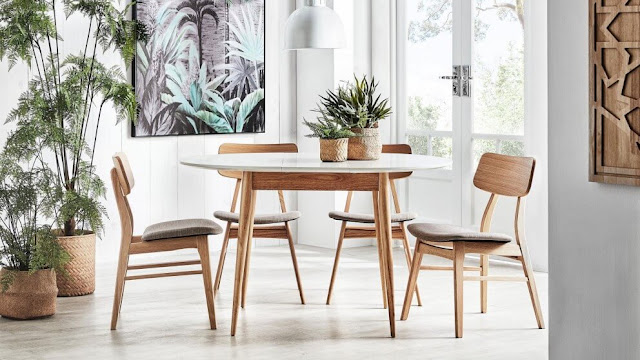White wooden dining table designs