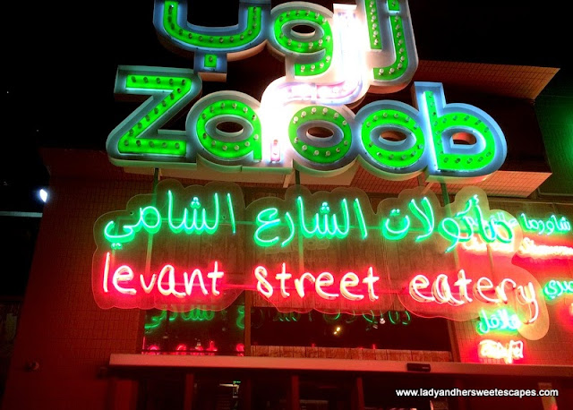 Zaroob's bright neon lights