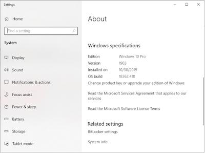 windows upgrade terbaru oktober 2019