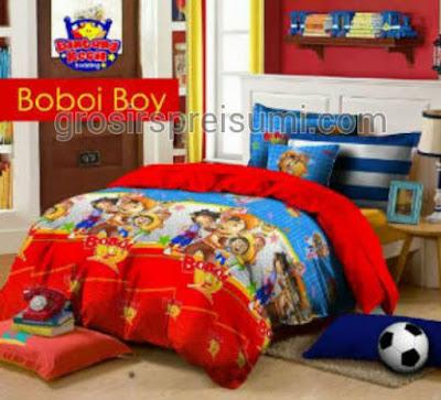 Sprei Karakter Anak Boboi Boy murah bahan star
