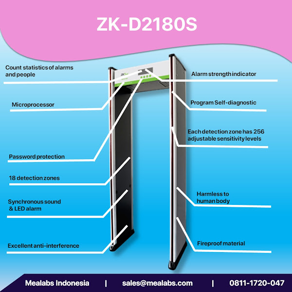 ZK-D2180S Walktrough Metal Detector