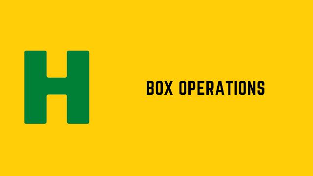 HackerRank Box Operations problem solution