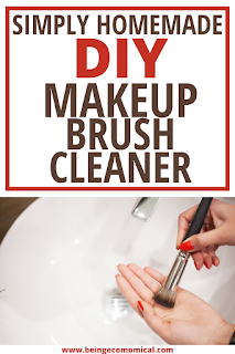 DIY homemade makeup brush cleaner