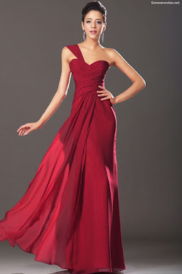Vestidos de damas de honor rojos