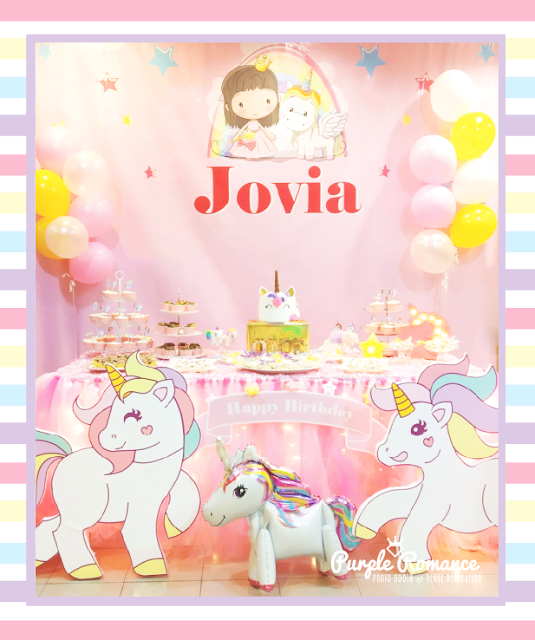 unicorn backdrop decoration birthday party planner malaysia