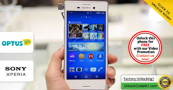Factory Unlock Code Sony Xperia M4 Aqua from Optus Yes