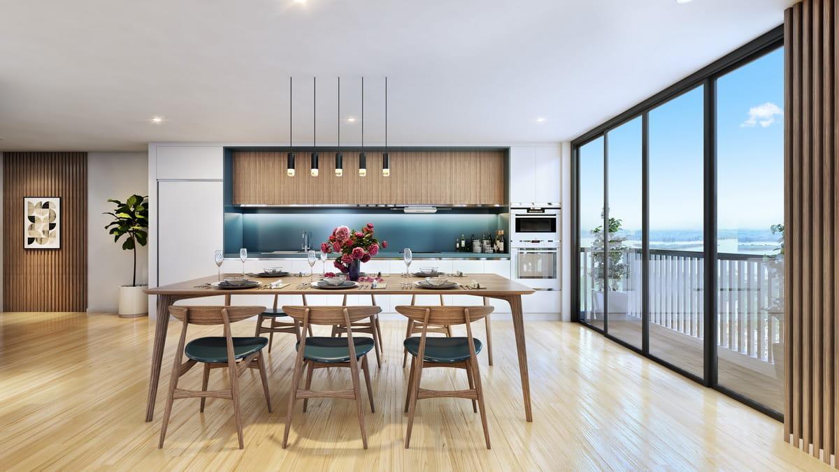 Phòng ăn thiết kế sang trọng