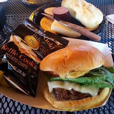 burger, cheese tray, winery food, debonne winery